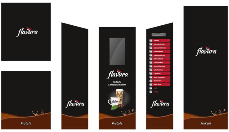 Flavura Design Service: Beispiel: Kaffeemaschinen, Kaffeeautomaten, Kaffeevollautomaten