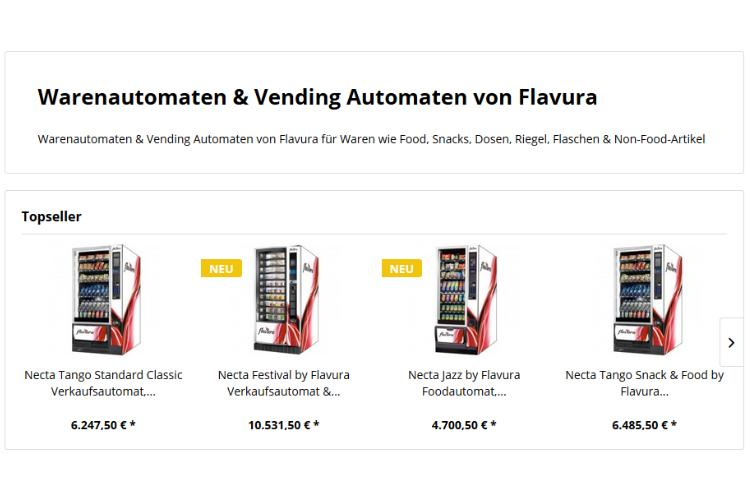 Outdoor Vending Automaten und Outdoor Automaten by Flavura