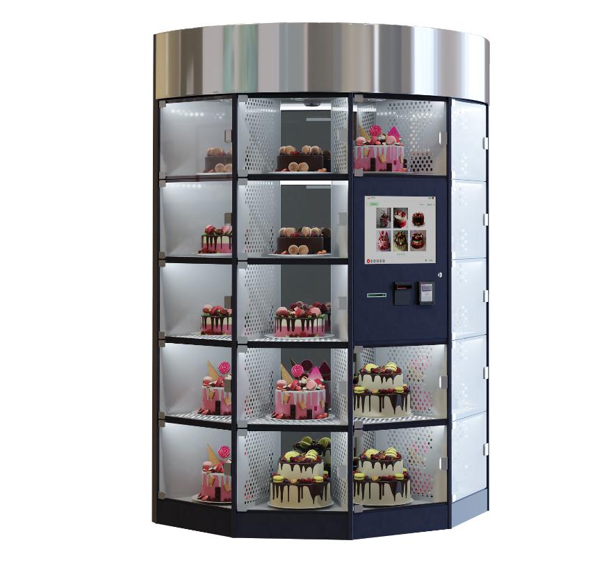 Tortenautomat Kristall by Flavura Verkaufsautomat, Warenautomat