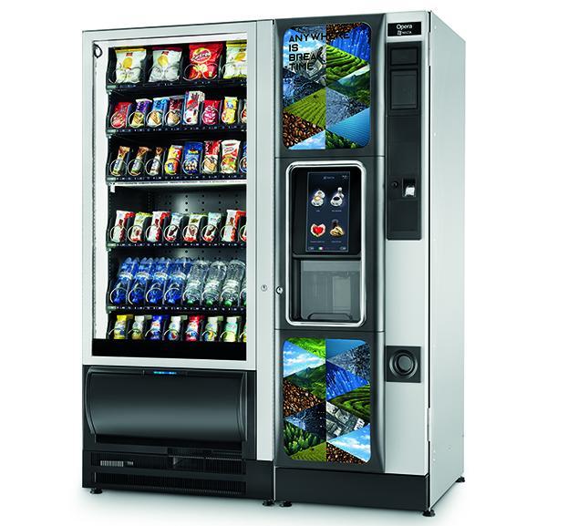 Necta Tango SL Opera Touch Vending Kombiautomat by Flavura: Master- & Slave Automat: Foodautomat, Snackautomat, Getränkeautomat, Kaffeeautomat, Verkaufsautomat, Warenautomat