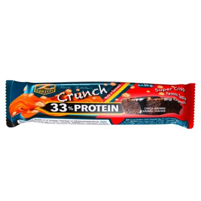 Protein Riegel: 33% Crunch Protein Bar, 50g by Z-Konzept & Flavura: Schoko Brownie Karamel