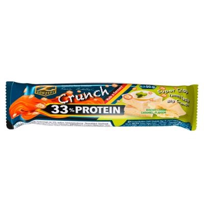 Protein Riegel: 33% Crunch Protein Bar, 50g by Z-Konzept & Flavura: Biscuit-Lemon