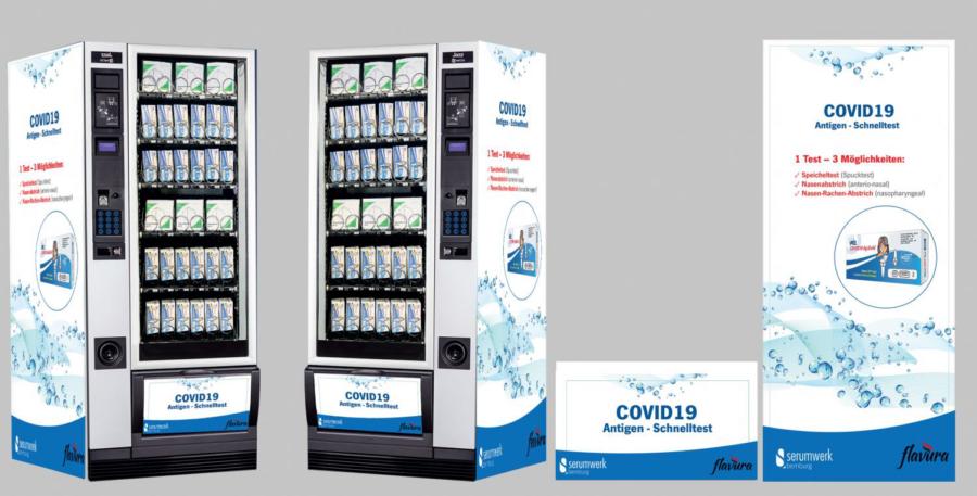 Corona Schnelltest Automat by Flavura: Covid19 Schnelltest Verkaufsautomat, Warenautomat