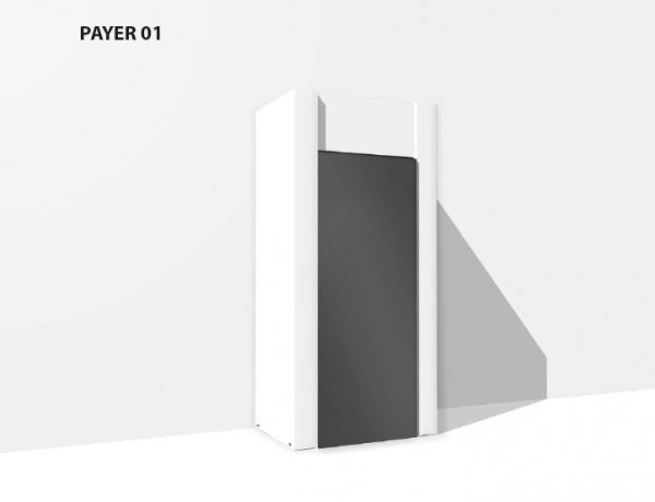 Umhausung & Verkleidung Payer 01 aus Karton für Vending Automaten & Automatenstationen by Flavura