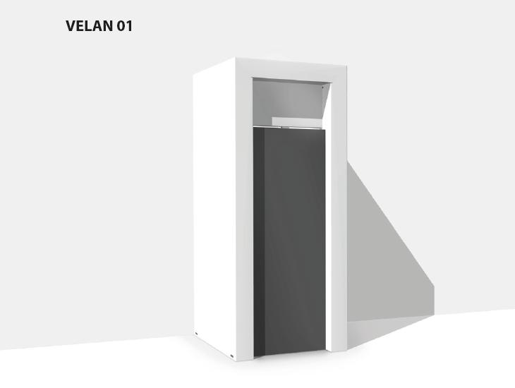 Umhausung & Verkleidung Velan 01 aus Karton für Vending Automaten & Automatenstationen by Flavura