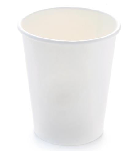 Kaffeebecher weiß ohne Druck: 7 oz, 180 ml: Weißer Pappbecher