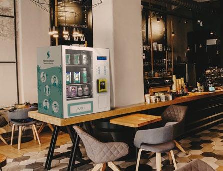 Safety Point Maskenautomat & Hygieneautomat by Flavura für Masken, Desinfektionsmittel, Hygieneartikel & Hygienemittel: Warenautomat, Verkaufsautomat