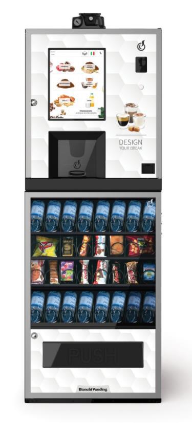 Bianchi Vending Kombiautomat LEI300 EVO + ARIA S EVO by Flavura Snackautomat, Kaffeeautomat, Foodautomat, Getränkeautomat, Verkaufsautomat, Warenautomat