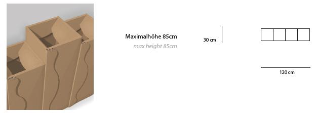 Abfallkorb Vigne: 4 Körbe aus Karton zur Abfallsammlung, Abfallmanagement für Vending Automaten & Automatenstationen by Flavura: Getränkeautomaten, Kaffeeautomaten, Kaffeevollautomaten, Foodautomaten, Snackautomaten, Verkaufsautomaten, Verpflegungsautomaten, Warenautomaten, Kombiautomaten