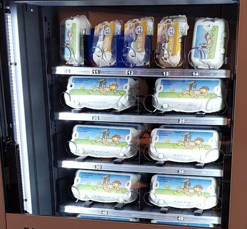 Eierautomaten von Flavura: Eierautomaten & Vending Automaten der Eierautomaten Hersteller für frische Eier aus Freiland-, Bio- oder Bodenhaltung im Eierkarton, Eierschachtel